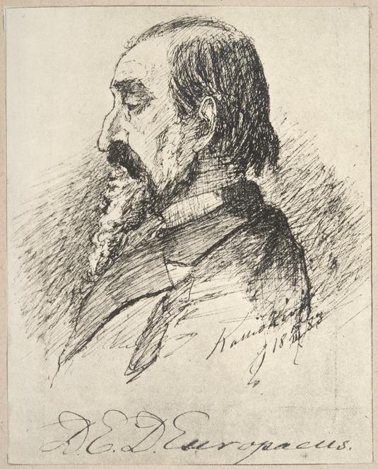 D.E.D. Europaeus. Johan Erland Stenbergin piirros 1880-luvulta. Kansallismuseo. CC BY 4.0.